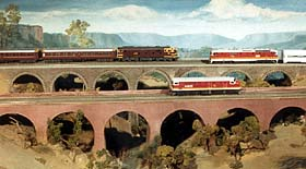 Colour picture: AMRA NSW's famous Hawkesbury layout.