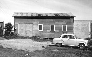 B&W picture: The tin shed that would soon become the AMRA NSW clubrooms.